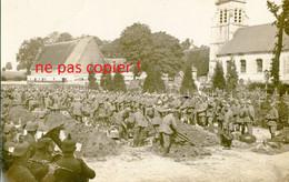 CARTE PHOTO ALLEMANDE - ENTERREMENT AU CIMETIERE DE BOIRY SAINT MARTIN PRES DE AYETTE PAS DE CALAIS GUERRE 1914 1918 - Guerre 1914-18