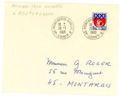 LOIRET ENV RABAT MANQUANT 1968 MONTARGIS ANNEXE 2 BUREAU FIXE INSTALLE A MONTCRESSON - 1961-....
