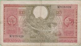 Belgique - Billet De 100 Francs Ou 20 Belgas - 1er Février 1943 - P107 - 100 Francs & 100 Francs-20 Belgas