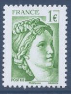 N° 5180 Sabine Verte Issue Du Bloc 40 Ans De La Sabine De Gandon Faciale 1 Euro - Unused Stamps