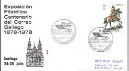 MATASELLOS 1973 SANTIAGO DE COMPOSTELA - 1971-80 Storia Postale
