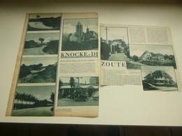 """Origineel Knipsel ( 2846 ) Uit Tijdschrift """"  De Stad """"  1934 :    Knocke   Knokke - Ohne Zuordnung"""
