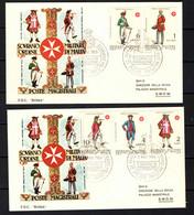 SMOM - 1969 - UNIFORMI DELL'ORDINE - ANNULLO PRIMO GIORNO - FIRST DAY - PREMIER JOUR - ERSSTAG - Malta (la Orden De)