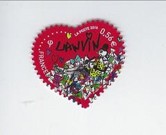 Saint-Valentin Coeur 2010 De La Maison De Couture Lanvin Adhésif 386 Oblitéré 2010 - Luchtpost