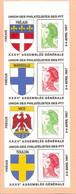 Porte Timbres Union Des Philatélistes Des PTT. Carnet De 4 Exemplaires. - Blocchi & Foglietti