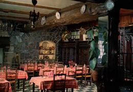 """CPSM - POULLAOUEN - Hôtel Restaurant """"VITRE"""" Salle à Manger ... - Edition G.Mesgouez - Otros Municipios"""