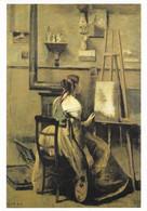 Jean Baptiste Camille Corot L'Atelier De Corot Jeune Femme Assise Devant Un Chevalet (carte écrite) - Pintura & Cuadros