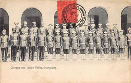 China - HONG KONG - Chinese And Indian Sikh Police - Publ. M. Sternberg & Co. - Chine (Hong Kong)