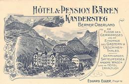 KANDERSTEG (BE) Hôtel & Pension Bären - BE Berne