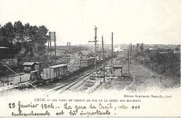 (1)      60    Creil     Les Voies De Chemin De Fer & Le Depot Des Machines - Creil