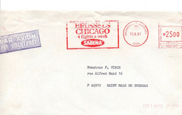 Sabena 1981 - Brussels Chicago - Bruxelles Brussel - EMA B 2329 - 1980-99