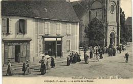PIONSAT La Sortie De La Messe  Recto Verso - Otros Municipios
