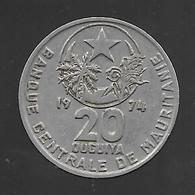 Mauritanie, 20 Ouguiya 1974 (923) - Mauritania