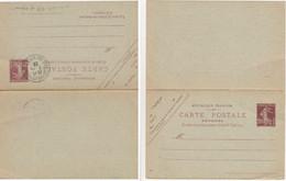 ENTIER POSTAL CPRP SEMEUSE 20C DATE 431 OBLIT BAS RHIN 1929 STRASBOURG QUAI DE PARIS REPONSE ATTENANTE NEUVE - 1921-1960: Periodo Moderno