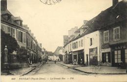 PIONSAT  La Grande Rue 3 Recto Verso - Otros Municipios