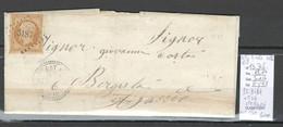 France - Lettre Pc 3187 - SAINTE MARIE ET SICCHE - Corse - Yvert 13 - Lettre Locale-1858 - 1849-1876: Periodo Clásico