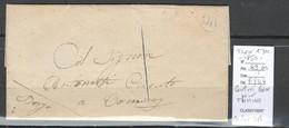 France - Lettre Locale Rurale CENTURI - Corse - 1850 - Cachet OR - Pour TOMINO - 1849-1876: Classic Period