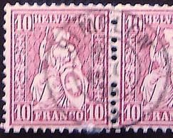 Schweiz Suisse Helvetia 1867: Zu 38 Mi 30 Yv 43 - 10c Rot Mit Voll-Stempel SIMPLON 20 DEC 76 (Zumstein CHF 1.25) - Gebraucht