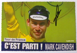 Mark CAVENDISH - Signé / Hand Signed / Dédicace Authentique / Autographe - Wielrennen