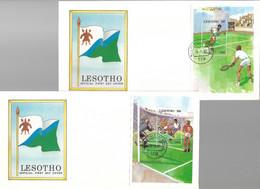 LESOTHO 1988 FDC JO SEOUL-TENNIS ET FOOTBALL YVERT N°B43/44 - Estate 1988: Seul