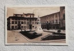 Cartolina Illustrata Pisa - Piazza Mazzini E Palazzo Del Governo, Viaggiata Per Siena 1934 - Pisa