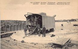 Oostende (W. Vl.) Batterie Hindenburg - Arrière D'une Pièce - Oostende