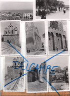 X9 Photos Photographie Originale LES SAINTES MARIES DE LA MER  1938 Rues Toit De L'église Place Panorama - Luoghi