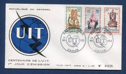 ⭐ Sénégal - Premier Jour - FDC - UIT - 1965 ⭐ - Senegal (1960-...)
