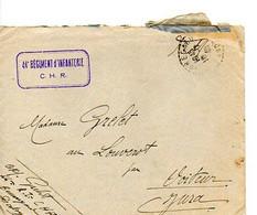 E 16  1940 Lettre/carte+ Courrier 44e R.I En Dordogne - Guerra De 1939-45
