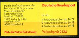 7371) Versuchsmarkenheftchen Für Die Nr. MH 21b-22 - Booklets
