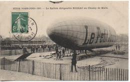 Fêtes Normandes 1909 - Le Ballon Dirigeable ZODIAC Au Champs De Mars - Dirigibili
