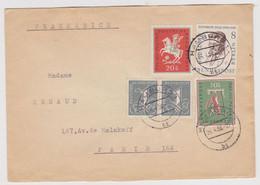 LETTRE ALLEMAGNE E. LEHRKE HAMBURG HAMBOURG 1958 → PARIS - ZOOM SUR TIMBRES - Storia Postale