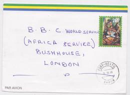 Port-Gentil Gabon Lettre Port Payé Entier Postal 260 F Pour BBC - Gabun (1960-...)