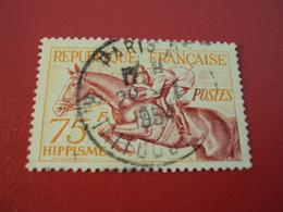 """1953- Oblitéré-  N°  965   """" HIPPISME  """"  """" Paris, Rue Taitbout""""     -net   5 - Usados"""