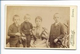 Y17297/ CDV Foto  Mutter Und Kinder Atelier Pätzold, Gotha Ca.1890 - Sin Clasificación