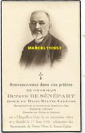 De Sénépart Octave - Bourgmestre De Chapelle-à-Oie 1863 / 1941 - Esquela