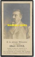 Dayez Albert - Docteur En Médecine - La Bouverie 1862 / Paturages 1919 - Esquela