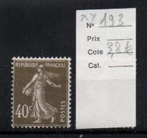 France YT 193 ** Mnh - Unused Stamps