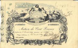 08 -  VOUZIERS -  Action De 100 Frs Du Comptoir 'L'UNITE' De VOUZIERS - 1849 - Très Rare - Otros Municipios