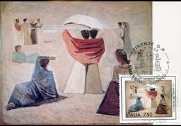 60004 Italia, Maximum 1995  Massimo Campigli  Le Spose Dei Marinai, The Wives Of Sailors,les épouses Des Marins - Moderne