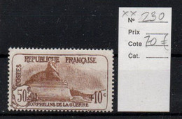 France YT 230 ** Mnh Cote 70€ - Unused Stamps