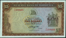 ♛ RHODESIA - 5 Dollars 15.05.1979 UNC P.40 - Rhodesia