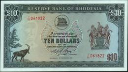 ♛ RHODESIA - 10 Dollars 03.12.1975 UNC P.33 I - Rhodesia