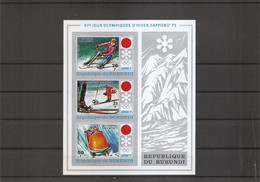 Burundi - JO D'hiver De Sapporo -1972 ( BF 56 Non Dentelé XXX -MNH) - 1970-79: Mint/hinged