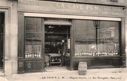 LA CAVE P. L. M.  - Magasin-Annexe, 10. Rue Montgallet, Paris (12°). Très Animé. Tonneau. Au Dos Livraison 15 Juil.1925. - District 12