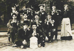 11653 - Ain - BELLEY -  LES CONSCRITS DE 1913  -  Carte Photo Marcelin  à Situer ?? - Belley