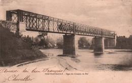 CPA - PONTEAUBAULT - Pont De Chemin De Fer (passage Du Train) - Edition ? - Altri Comuni