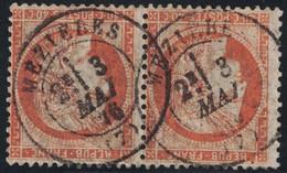 CERES SIEGE - N°38 - PAIRE - CACHET A DATE - MEZIERES - ARDENNES - 3 MAI 1876 - COTE PAIRE 28€. - 1849-1876: Période Classique