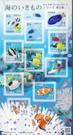 JAPAN, 2020 MNH, SEALIFE SERIESIV, FISH,  CORALS,  SHEETLET - Fische