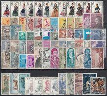 ESPAÑA 1967 Nº 1767/1838 AÑO COMPLETO CON TRAJES USADO 72 SELLOS (REF. 01) - Full Years